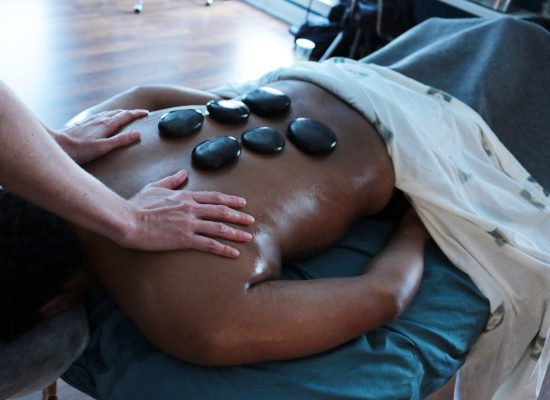Massage Class learning Hot Stone Massage