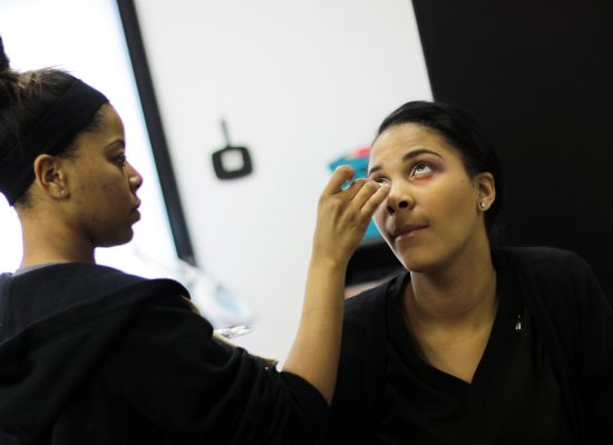 Makeup by our Esthetician Students